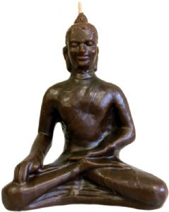 Candle Buddha~Ethnic Bali Buddha Candle - Brown~Fair Trade Through Folio Gothic Hippy